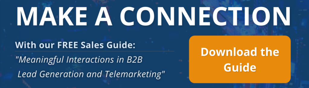 Make a Connection - Download our B2B Sales Guide